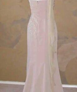 back of one shoulder pageant gowns