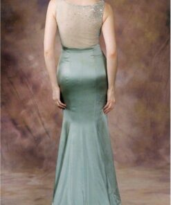 Sheer Backless Pageant Dresses