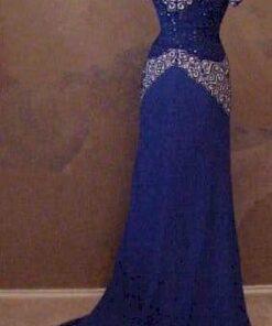 back of evening dress