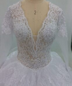 Style #C2018-Carroll V-neck lace wedding dresses from Darius Cordell