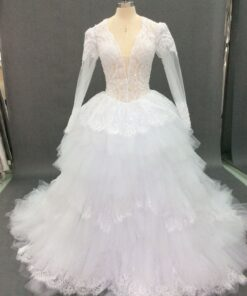Style C2018-PC-yaz2 -Custom long sleeve bridal gown inspired by Pnina Tornai