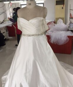 Custom plus size ball gown wedding dress for Heather nelson