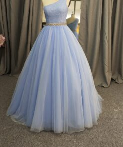 C2020-LDuff2 - One shoulder pastel blue formal ball gown from Darius Cordell