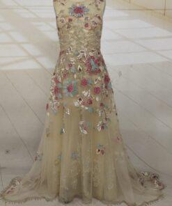 C2020 - Jodi Parot - sleeveless antique vintage wedding gown