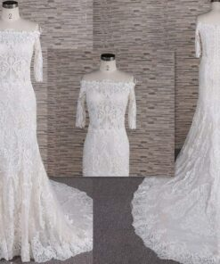 FB1106 - off the shoulder lace wedding gown from Darius Cordell