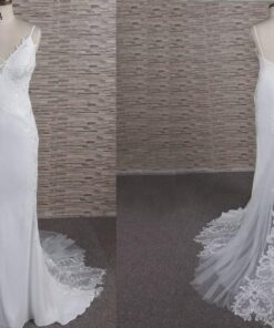 FB1108 sexy v-neck wedding dress from darius cordell